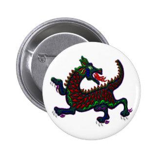 Fire Breathing Dragon 6 Cm Round Badge