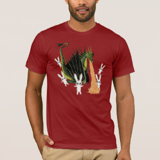 Fire Breathing Dragon and Plush Bunnies T-Shirt