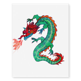 Fire-Breathing Dragon as Temporary Tattoo!