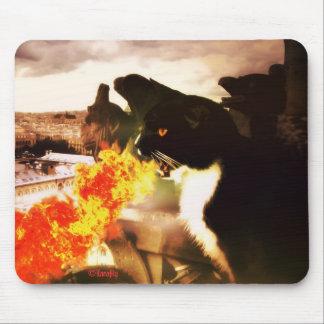 Fire Breathing Dragon Cat mousepad