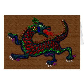 Fire Breathing Dragon Greeting Card