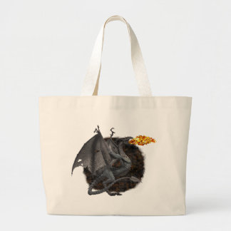 Fire-Breathing Dragon Jumbo Tote Bag