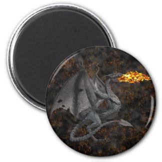 Fire-Breathing Dragon Fridge Magnet