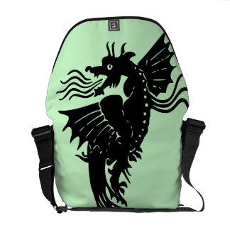 Fire Breathing Dragon Messenger Bags