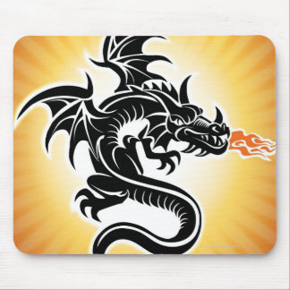 Fire breathing dragon mouse pad