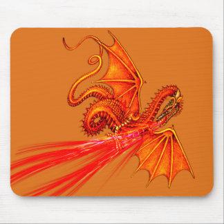 Fire breathing dragon mousepad