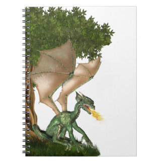 Fire breathing dragon notebook