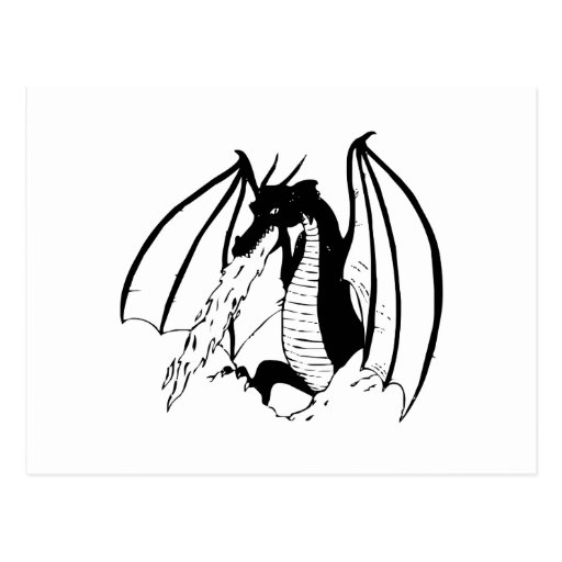 Fire Breathing Dragon Post Cards