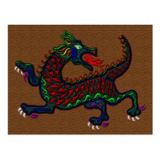 Fire Breathing Dragon Postcard