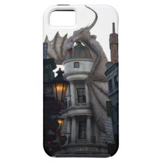 Fire breathing Dragon protecting wizard's bank iPhone 5 Covers
