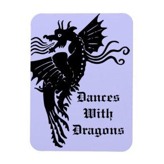 Fire Breathing Dragon Rectangular Photo Magnet