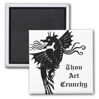 Fire Breathing Dragon Square Magnet