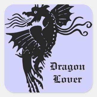 Fire Breathing Dragon Square Sticker