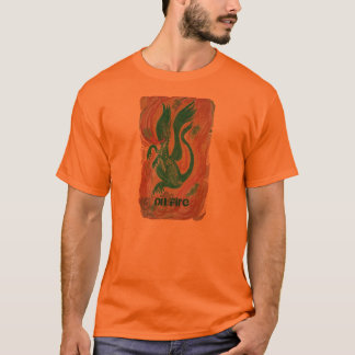 Fire breathing dragon, Text says On Fire T-Shirt