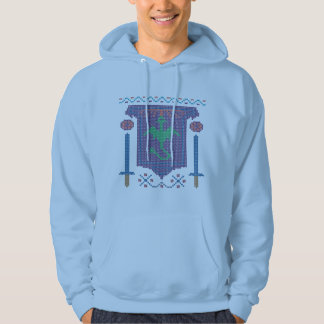 Fire Breathing Dragon Ugly Sweater Design Hooded Pullover