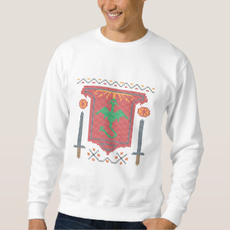 Fire Breathing Dragon Ugly Sweater Design Pull Over Sweatshirts