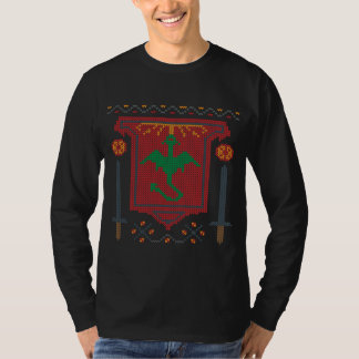 Fire Breathing Dragon Ugly Sweater Design T-shirts