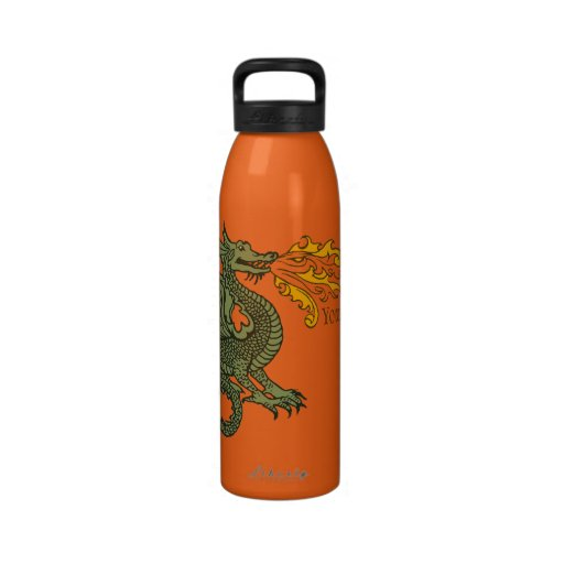 Fire Breathing Dragon Reusable Water Bottles