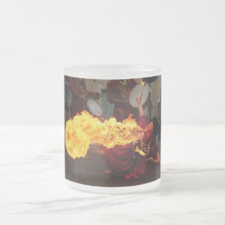 Fire Breathing Frosted Glass Mug