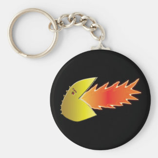 Fire-Breathing Head Basic Round Button Key Ring