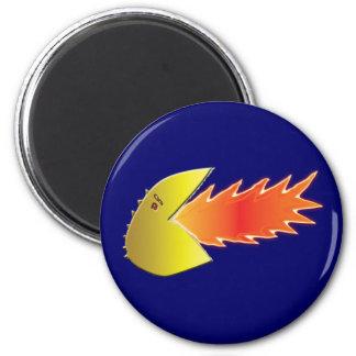 Fire-Breathing Head 6 Cm Round Magnet