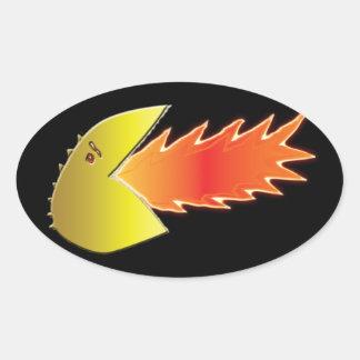 Fire-Breathing Head Oval Sticker