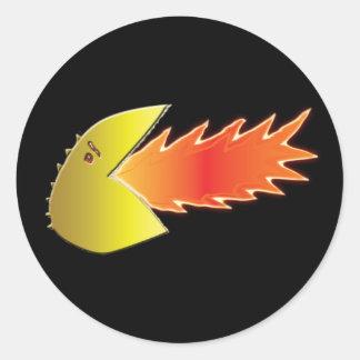 Fire-Breathing Head Stickers