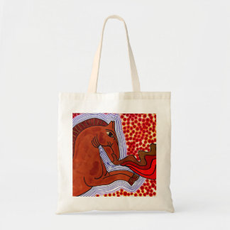 Fire Breathing Horse Tote Bag