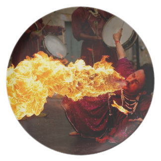 Fire Breathing Party Plate