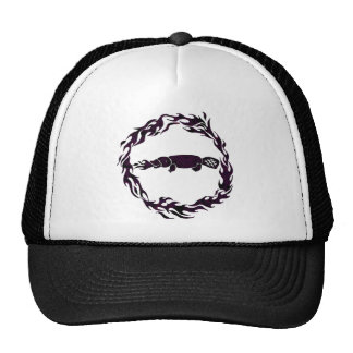 Fire Breathing Platypus Flames Graphic Mesh Hats