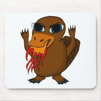Fire Breathing Platypus Mouse Pad