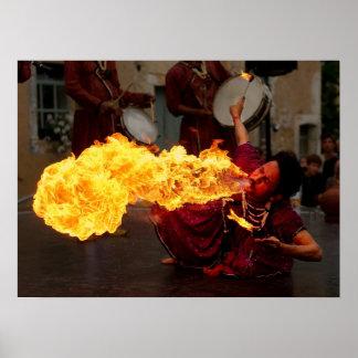 Fire Breathing Print