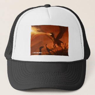 Fire-Breathing Prehistoric Dinosaur by Jake Murray Trucker Hat