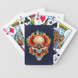 Fire Breathing Skull Design Deck Of Cards