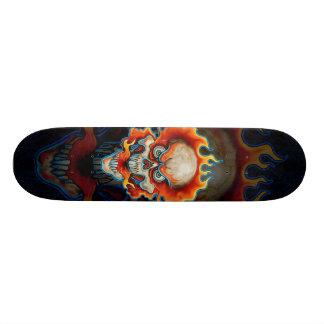Fire Breathing Skull Design Skate Decks