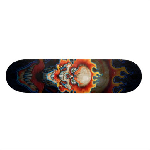 Fire Breathing Skull Design Skate Decks