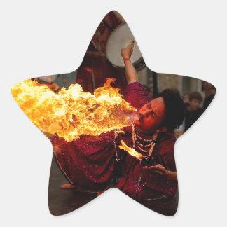 Fire Breathing Star Sticker