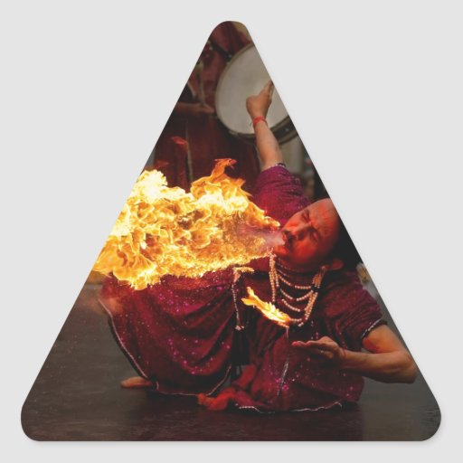 Fire Breathing Triangle Stickers