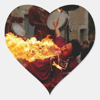 Fire Breathing Heart Sticker