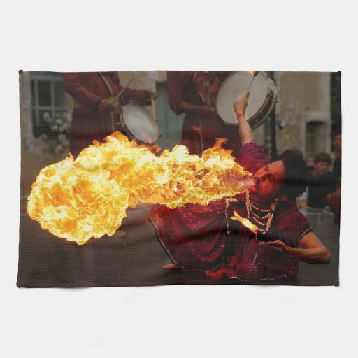 Fire Breathing Kitchen Towels