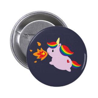 Fire-Breathing Unicorn 6 Cm Round Badge