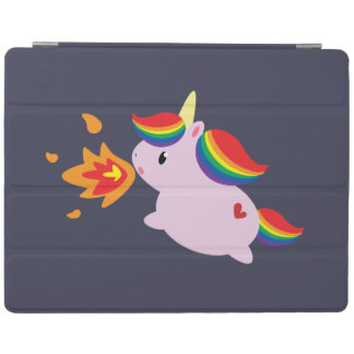 Fire-Breathing Unicorn iPad Cover