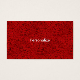 Fire Brick Red Cork Look Wood Grain Business Card