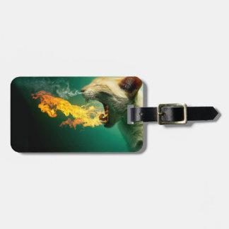 Fire cat - flame cat - scaredy cat - crazy cat luggage tag
