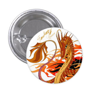 Fire Coral Dragon Fantasy Space Pin