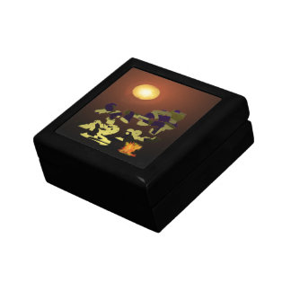 Fire Dance Abstract Design Gift Box