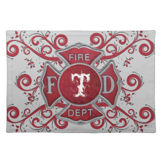 Fire Department Custom Monogram Placemat