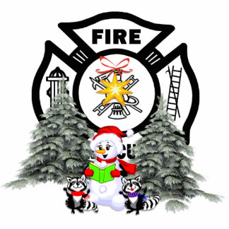 Fire Dept Christmas Scene Photo Sculpture