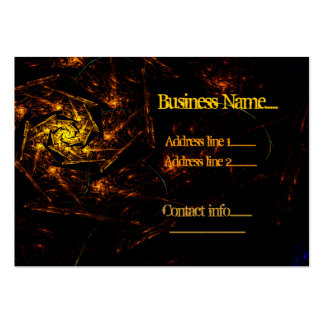 Fire Down Below Abstract Business Template Pack Of Chubby Business Cards
