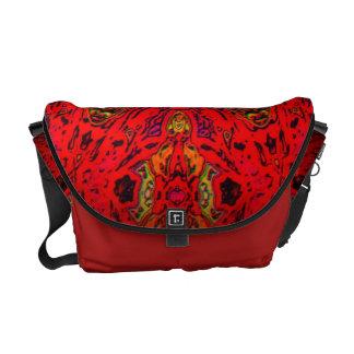 FIRE Element Kaleido Pattern Messenger Bag